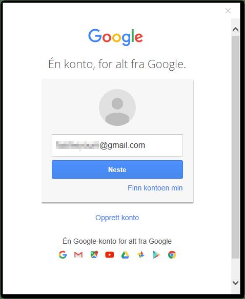 My google account log in